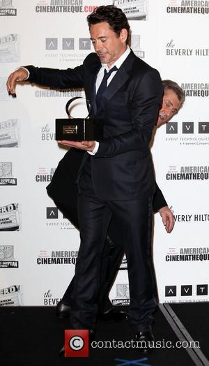 Mel Gibson and Robert Downey, Jr. 25th American Cinematheque Award honoring Robert Downey, Jr. at The Beverly Hilton Hotel -...