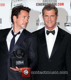 Robert Downey Jr, Mel Gibson and Beverly Hilton Hotel