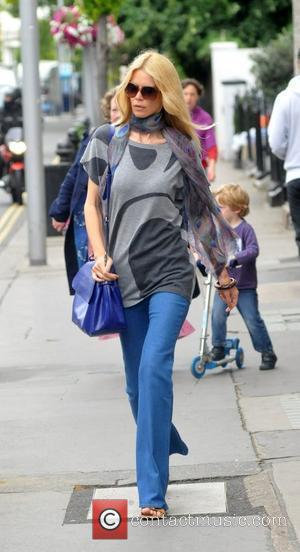 Claudia Schiffer after dropping her children off at school London, England - 06.07.11
