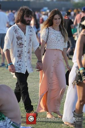 Isabel Lucas and Angus Stone Celebrities at the 2011 Coachella Valley Music and Arts Festival - Day 3 Indio, California...