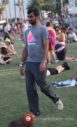 Aziz Ansari Celebrities at the 2011 Coachella Valley Music and Arts Festival - Day 3  Indio, California - 17.04.11