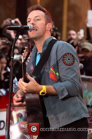 Chris Martin and Rockefeller Plaza