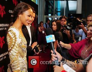 Zoe Saldana  attends the 'Colombiana' Miami Red Carpet Screening at Regal South Beach  Miami Beach, Florida - 22.08.11