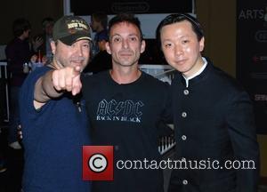 Carlos Gallardo, Noah Hathaway and Chee Keong Cheung  Comic-Con 2011 - Day 2 - Celebrity Sightings San Diego, California...