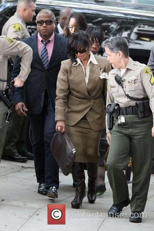 Randy Jackson and Rebbie Jackson arrive at Los Angeles Superior Court on day 6 of the Conrad Murray involuntary manslaughter...
