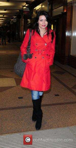 Alison King arrives at the Contemporary Six art gallery for Coronation Street star Steve Huison, charity auction of his drawings....
