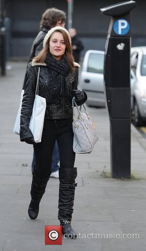 Paula Lane,  arrives at the Granada Studios to film an episode of 'Coronation Street'. Manchester, England - 02.02.11