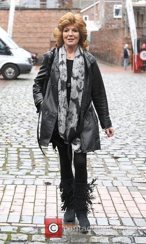 Rula Lenska,  arrives at the Granada Studios to film an episode of 'Coronation Street'. Manchester, England - 02.02.11