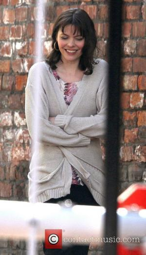 Kate Ford on the set of 'Coronation Street' Manchester, England - 07.03.11