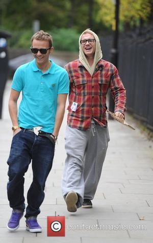 Jack P Shepherd, Chris Fountain 'Coronation Street' cast arriving at the Granada studios Manchester, England - 17.10.11
