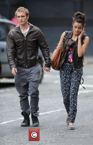 Chris Fountain with his girlfriend Jessica Derrick 'Coronation Street' actors outside Granada Studios Manchester, England - 20.07.11