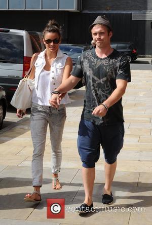 Chris Fountain with his girlfriend Jessica Derrick 'Coronation Street' cast at the Granada studios Manchester Manchester, England - 24.08.11