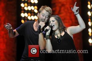 Charles Kelley, Hillary Scott Lady Antebellum performs live in concert at Country Thunder Twin Lakes, Wisconsin - 21.07.11
