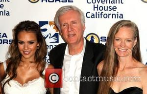 Jessica Alba, James Cameron and Suzy Amis
