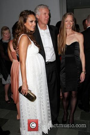 Jessica Alba, James Cameron and Suzy Amis
