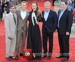 Daniel Craig, Harrison Ford, Jon Favreau and Olivia Wilde