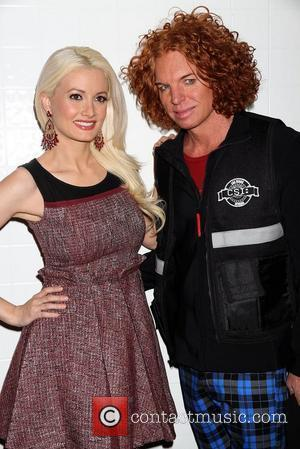 Holly Madison and Carrot Top
