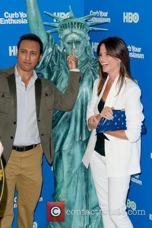 Aasif Mandvi and Amy Landecker Screening of the new season of the 'Curb Your Enthusiasm' - Arrivals New York City,...