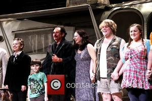 Molly Ranson, Aiden Eyrick, Mark Rylance, Geraldine Hughes, Danny Kirrane and Charlotte Mills Opening night of the Broadway production of...