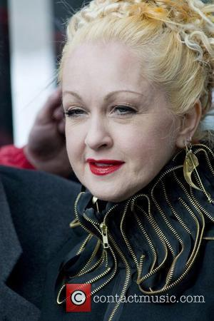 Cyndi Lauper at the ribbon cutting ceremony for Gray Line New York's Ride of Fame at The Metropolitan Museum of...