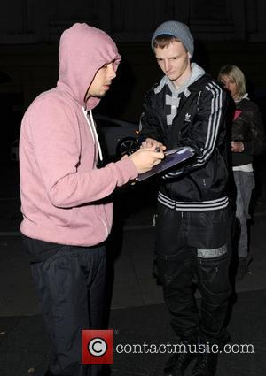 Rapper, Dappy aka Costadinos Contostavlos of N-Dubz arrives at his Manchester Hotel wearing a pink hoodie. Manchester, England - 16.11.11