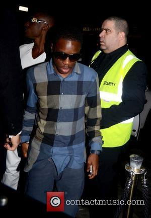 Tinchy Stryder celebrities arrive at Movida to celebrate Dappy's (real name Dino Contostavlos) new solo single No Regrets going straight...