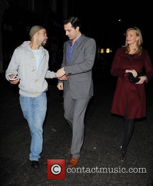 Darius Campbell and Natasha Henstridge out and about in Soho London, England - 10.11.11