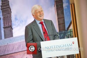 Sir Michael Parkinson Sir David Attenborough officially opens Nottingham Trent University's Newton and Arkwright buildings Nottingham, England - 18.05.11