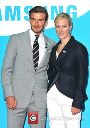 David Beckham and Zara Phillips