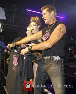Hayley Hasselhoff and Taylor-Ann Hasselhoff of Bella Vida with their father David Hasselhoff  appearing at G-A-Y London, England -...