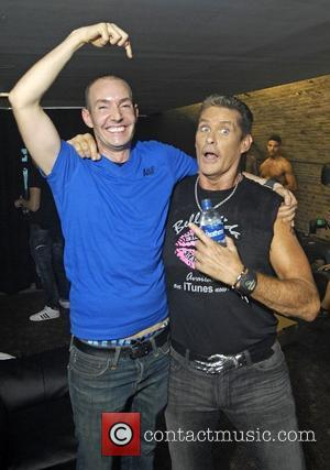 G-A-Y nightclub owner Jeremy Joseph with David Hasselhoff  appearing at G-A-Y London, England - 20.08.11