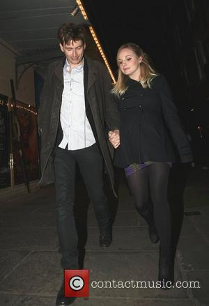David Tennant and pregnant fiancee Georgia Moffett leaving J Sheekey restaurant London, England - 29.01.11