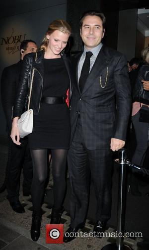 David Walliams and Lara Stone