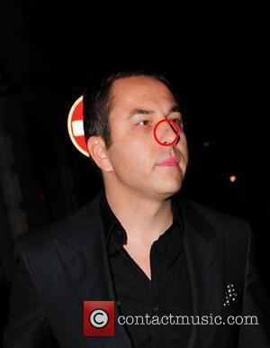 David Walliams with a blemish spot on his nose outside Nobu London, England - 19.04.11