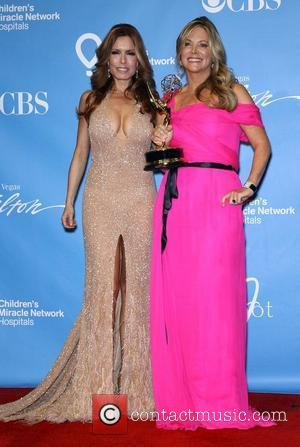 Tracey E Bregman, Maria Arena Bell Daytime Emmy Awards Press Room at Hilton Hotel and Casino  Las Vegas, Nevada...