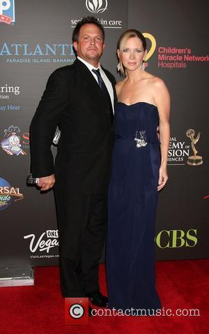 Scott Martin, Lauralee Bell  ,  arriving at the Daytime Emmy Awards at the Hilton Hotel and Casino -...
