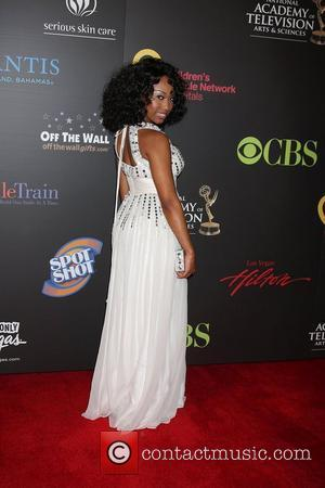 Angell Conwell  ,  arriving at the Daytime Emmy Awards at the Hilton Hotel and Casino - Red Carpet....