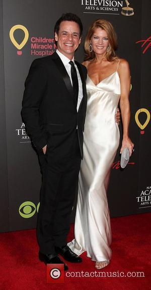 Christian LeBlanc, Michelle Stafford  ,  arriving at the Daytime Emmy Awards at the Hilton Hotel and Casino -...
