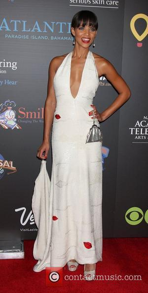 Denise Vasi  ,  arriving at the Daytime Emmy Awards at the Hilton Hotel and Casino - Red Carpet....