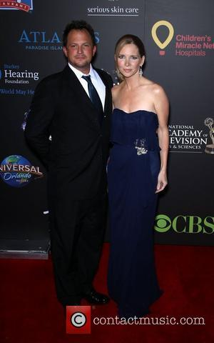 Scott Martin, Lauralee Bell Daytime Emmy Awards at the Hilton Hotel and Casino - Red Carpet Las Vegas, Nevada -...