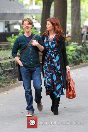 Debra Messing and Christian Borle