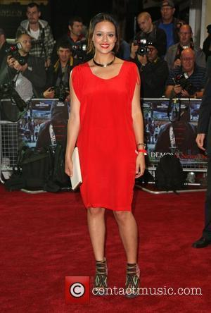 Nathalie Emmanuel UK film premiere of 'Demons Never Die' held at the Odeon West End - Arrivals London, England -...