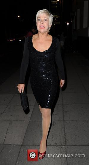 Denise Welch leaves the Opera House after watching 'Ghost' and head to the Dancing on Ice Wrap party at Manchester's...