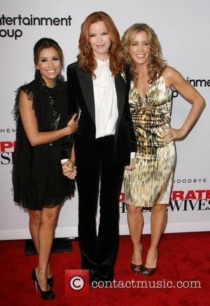 Eva Longoria, Kate Walsh and Felicity Huffman 'Desperate Housewives' Final Season Kick-Off Party held at Wisteria Lane in Universal Studios...