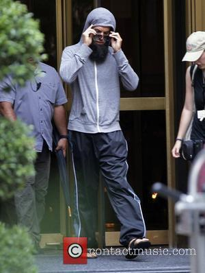 Sacha Baron Cohen on the set of 'The Dictator' filming in Manhattan New York City, USA - 11.07.11