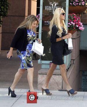 Dina Lohan shops in Beverly Hills with a friend Los Angeles, California - 07.10.11