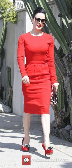 Dita Von Teese leaving Fred Segal carrying a black and white clutch Los Angeles, California - 23.05.11