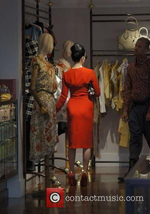 Dita Von Teese shops at Vivienne Westwood boutique in West Hollywood Los Angeles, California - 23.05.11