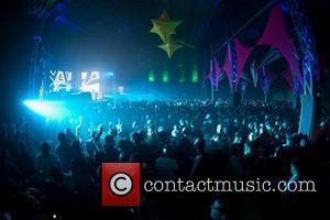 DJ Carl Cox performing live at LX Factory. Lisbon, Portugal - 30.04.11