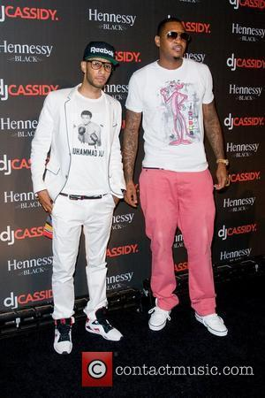 Swizz Beatz and Carmelo Anthony